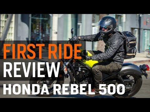 2017 Honda Rebel 500 First Ride Review at RevZilla.com