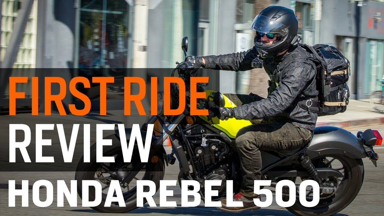 4898e24bdd 2017 Honda Rebel 500 First Ride Review at RevZilla.com - YouTube