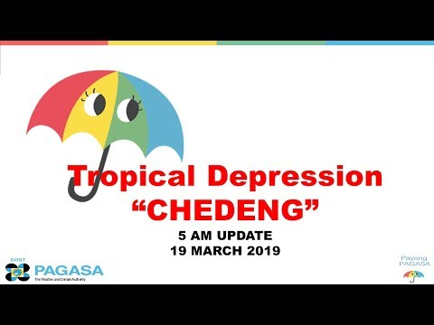 """Press Briefing:Tropical Depression """"#CHEDENGPH"""" Tuesday, 5 AM March 19 2019"""