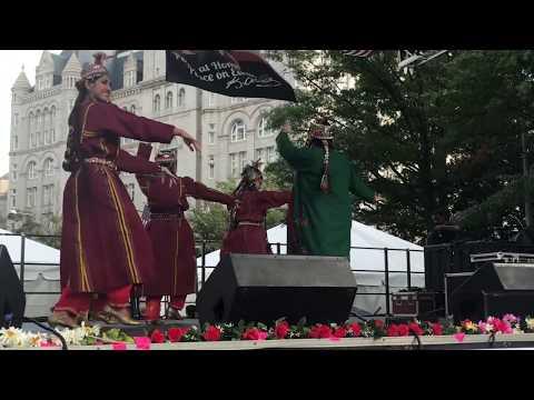 Nomad Dancers - Turkmen Dance At Washington DC Turkish Festival