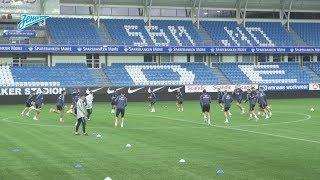 «Мольде» — «Зенит»: открытая тренировка перед матчем в Норвегии