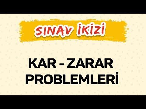 KAR - ZARAR PROBLEMLERİ - ŞENOL HOCA