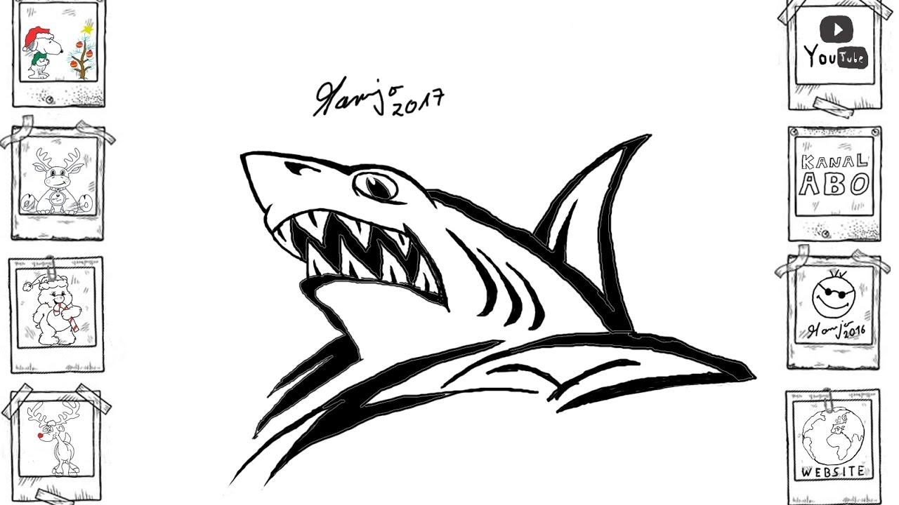 Kritzel Hai shark skizze Zeichnung gekritzel kritzel Tutorial ...
