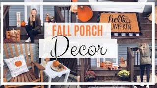 FALL PORCH DECOR // DECORATE WITH ME 2019 // FRONT PORCH FALL DECORATE