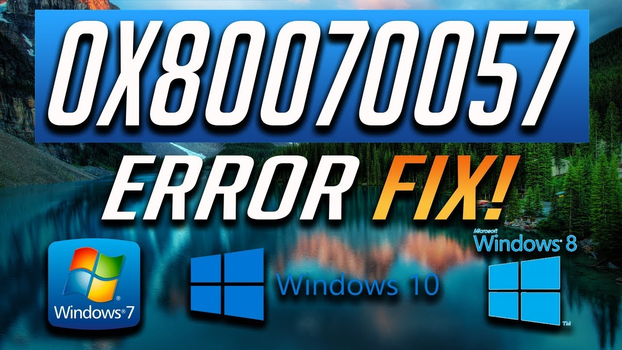 80070057 windows update error
