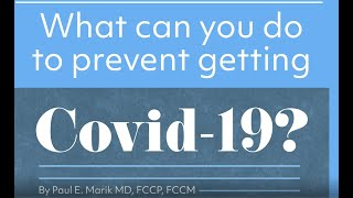 Protecting yourself from COVID-19. The I-MASK protocol