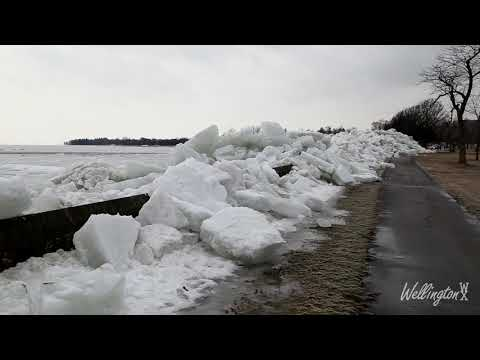 Ontario Wind Storm and Ice Shove - February 24, 2019