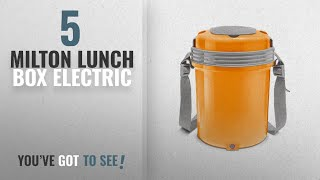 Top 10 Milton Lunch Box Electric [2018]: Milton Electron 4 Electric Stainless Steel Lunch Pack with