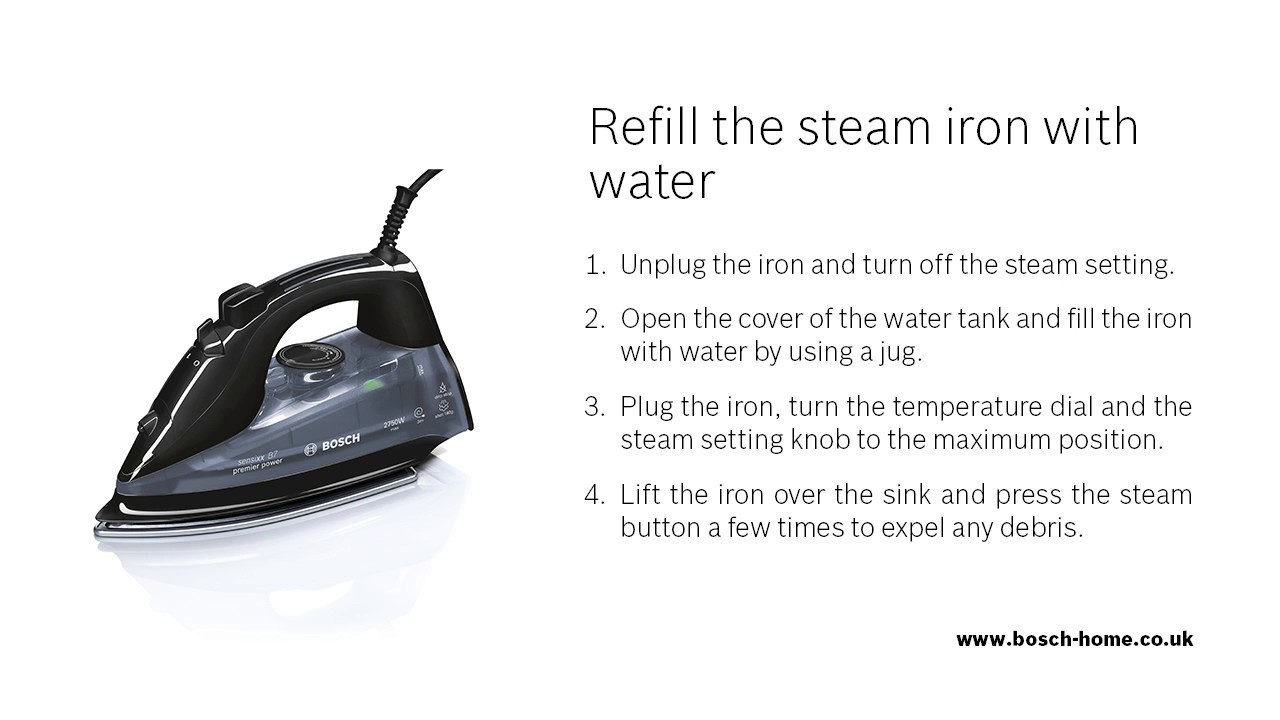 How Do I Refill My Steam Iron With Water