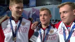 Сборная России - победитель первенства Европы / Рапира юниоры