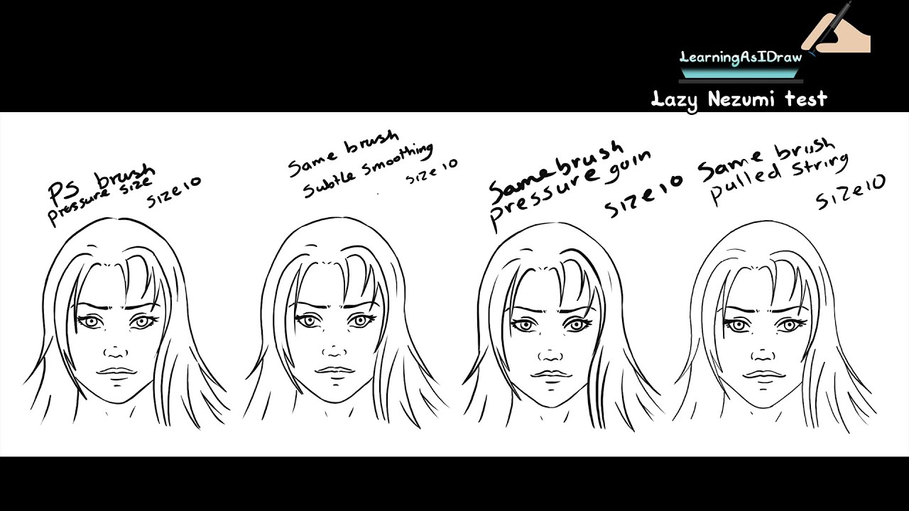 Drawing Smooth Lines Reviews : Lazy nezumi test photoshop line art review