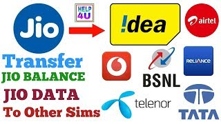 Transfer Internet Data and  Balance From Jio Sim to  Other Sim With Proof Message  2017 hindi