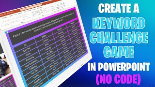 Create A Keyword Challenge Game In PowerPoint
