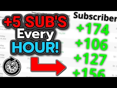 How To Get Youtube Subscribers Fast 2019 [5 Sub's An Hour]
