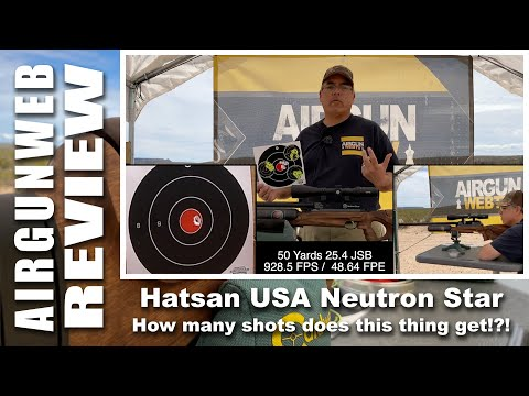 AIRGUN REVIEW - Neutron Star .25 Caliber By Hatsan USA- How Many Shots Does This Thing Get?!?