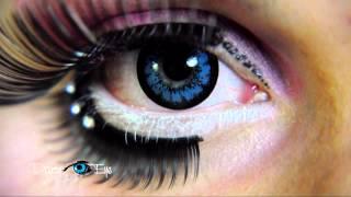 Niebieskie soczewki kolorowe PartyEye OS AQUA / Blue Color Contact Lenses