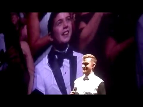 Kid Gives Justin Timberlake A Present On Stage | What's Trending Now