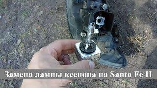 Вторая замена лампы ксенона | Hyundai Santa Fe II