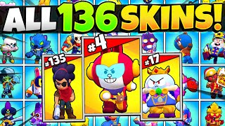 Ranking All 136 Skins In Brawl Stars! The BEST & WORST Skins Ever!