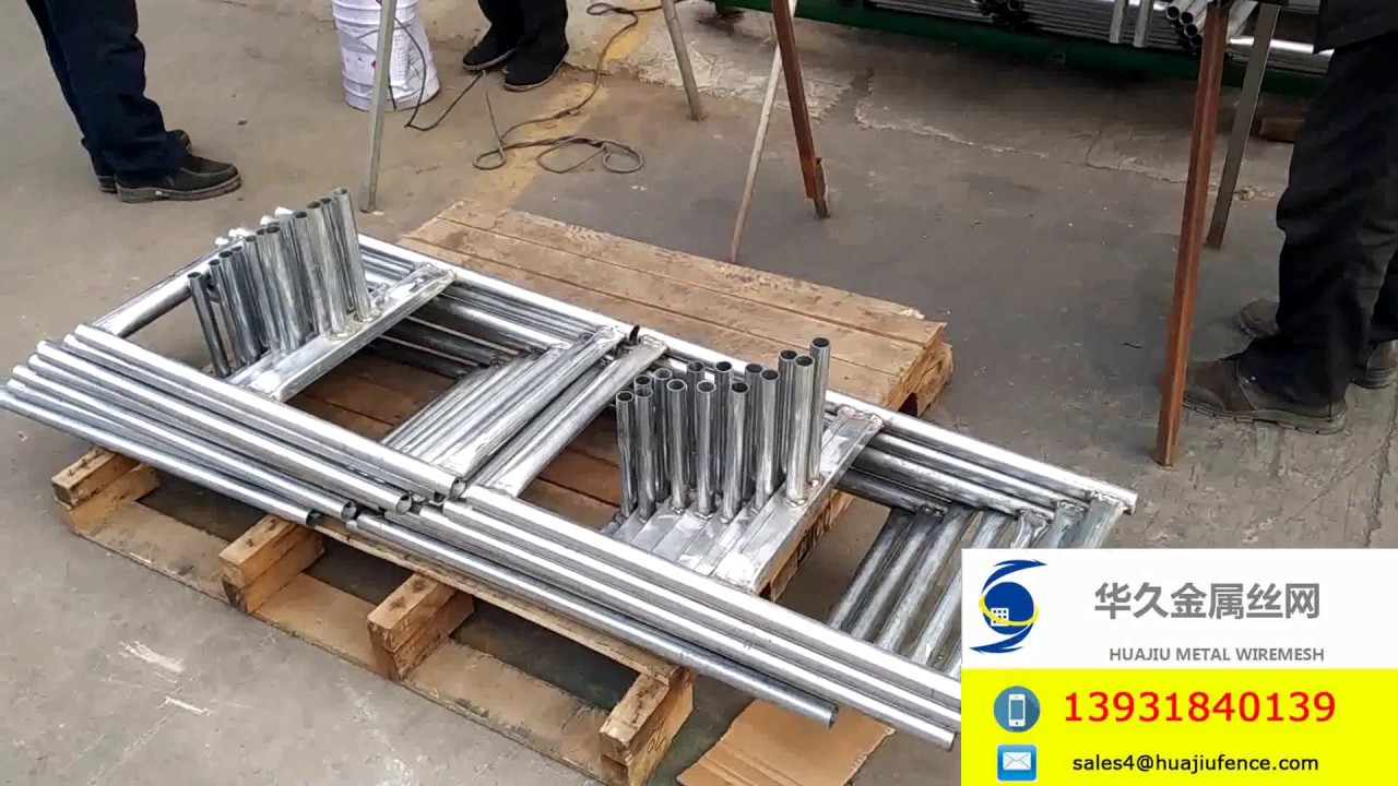 Temporary Fence Panel Stand Welded Galvanized Steel For Chain Link ...