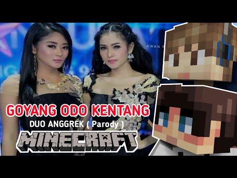 ♪ Duo Anggrek : Goyang Odo Kentang with STRESMEN | Lagu Minecraft Animasi Parody Indonesia ♪