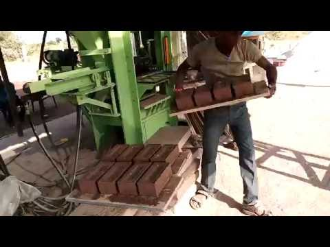 Fly Ash Brick manufacturing by Model P01/04 Automatic Brick & Block Machine from AB Engitech