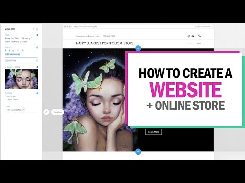 HOW TO CREATE A WEBSITE + ONLINE STORE (in 15 minutes!)