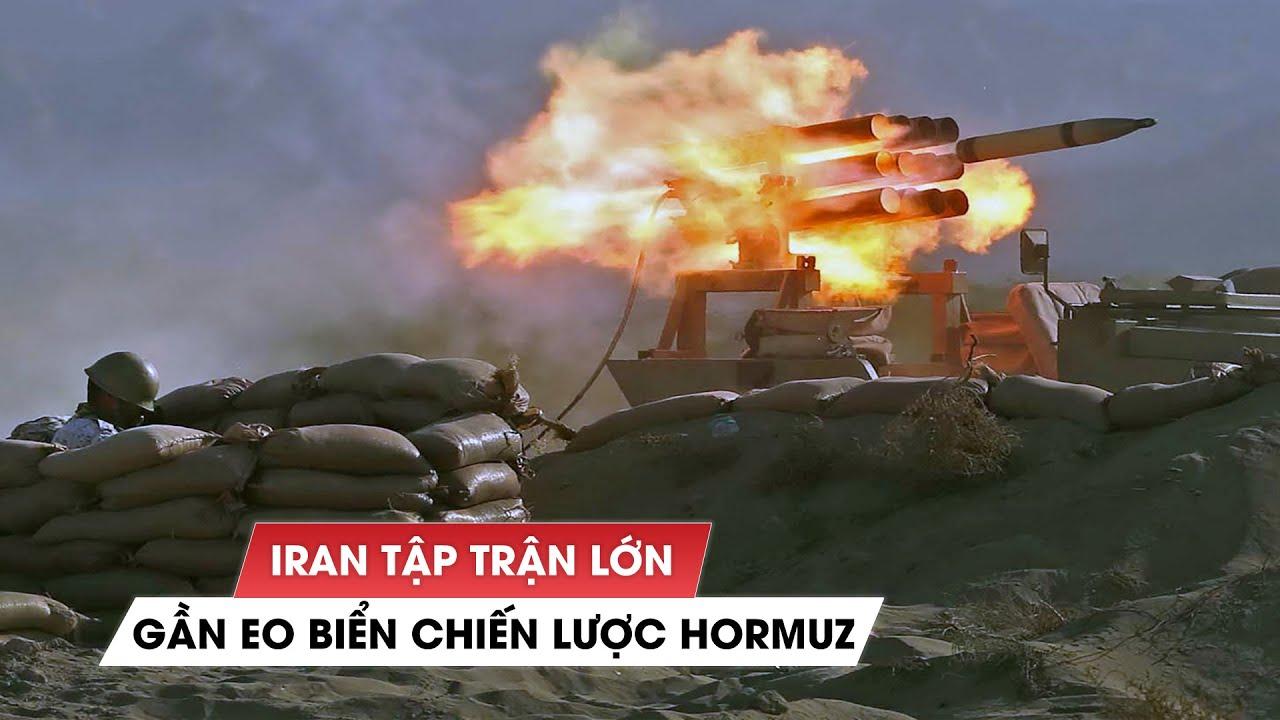 Iran tập trận lớn gần eo biển chiến lược, 'đuổi' máy bay trinh sát Mỹ