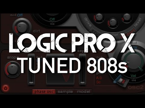 Logic Pro X - Create Tuned 808s (NO SAMPLES) with ULTRABEAT