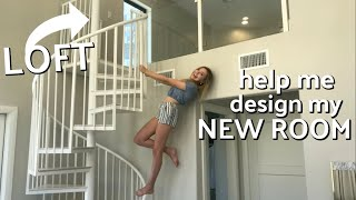 Help Me Design My NEW ROOM! Part 2! | Sasha Morga
