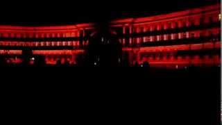 Лазерное шоу на Дворцовой площади в Питере