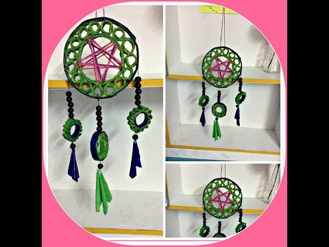 💭 DIY - DREAM CATCHER - made of RECYCLED PAPER 💭 💭 💭