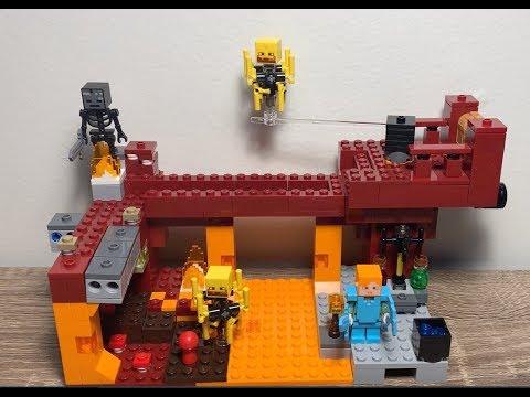 LEGO Minecraft 21154 The Blaze Bridge Review!