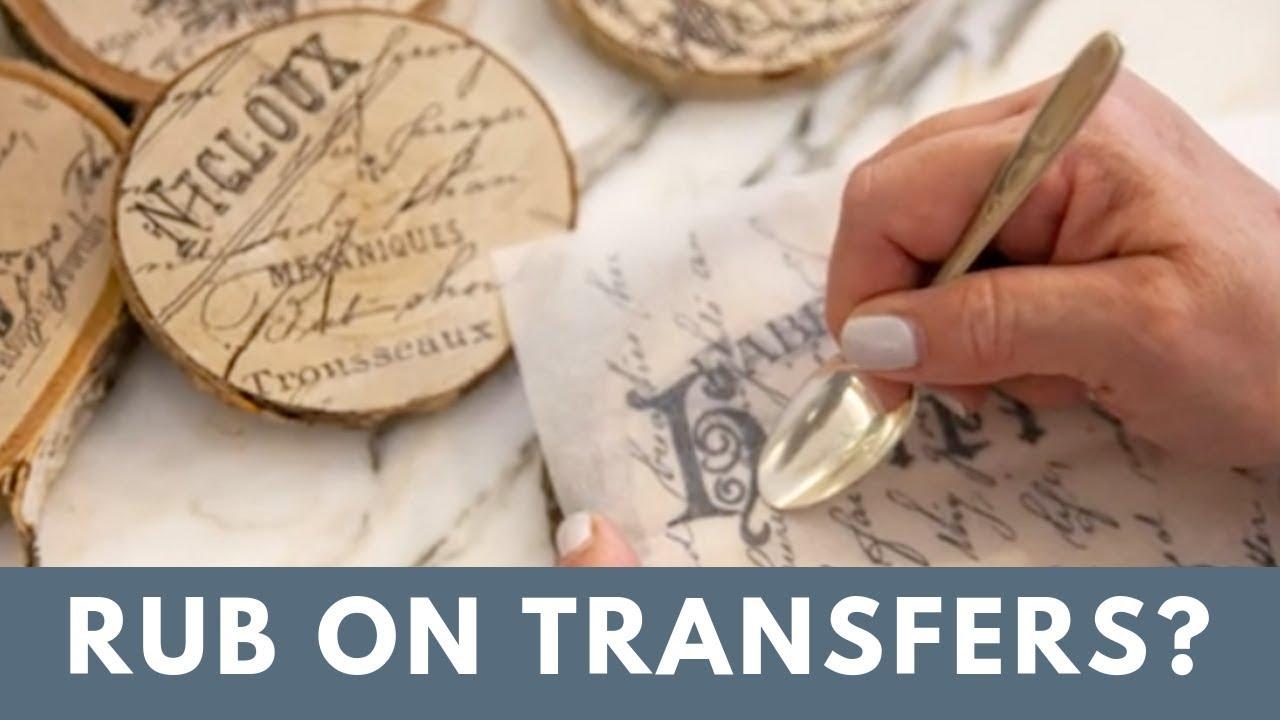 What Is A Rub On Transfer Diy