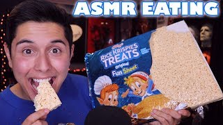 [ASMR] GIANT Rice Krispie Treat! (Crunchy Eating Sounds!)