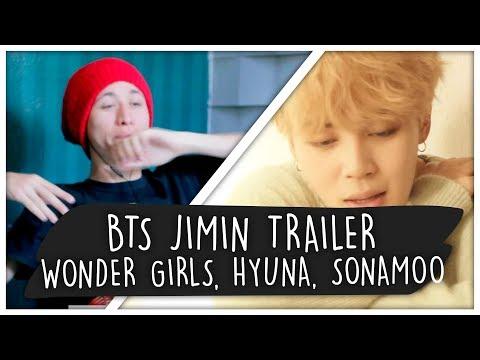 "REACT BTS JIMIN ""Serendipity"" TRAILER + WONDER GIRLS, HYUNA E SONAMOO (k-pop)"