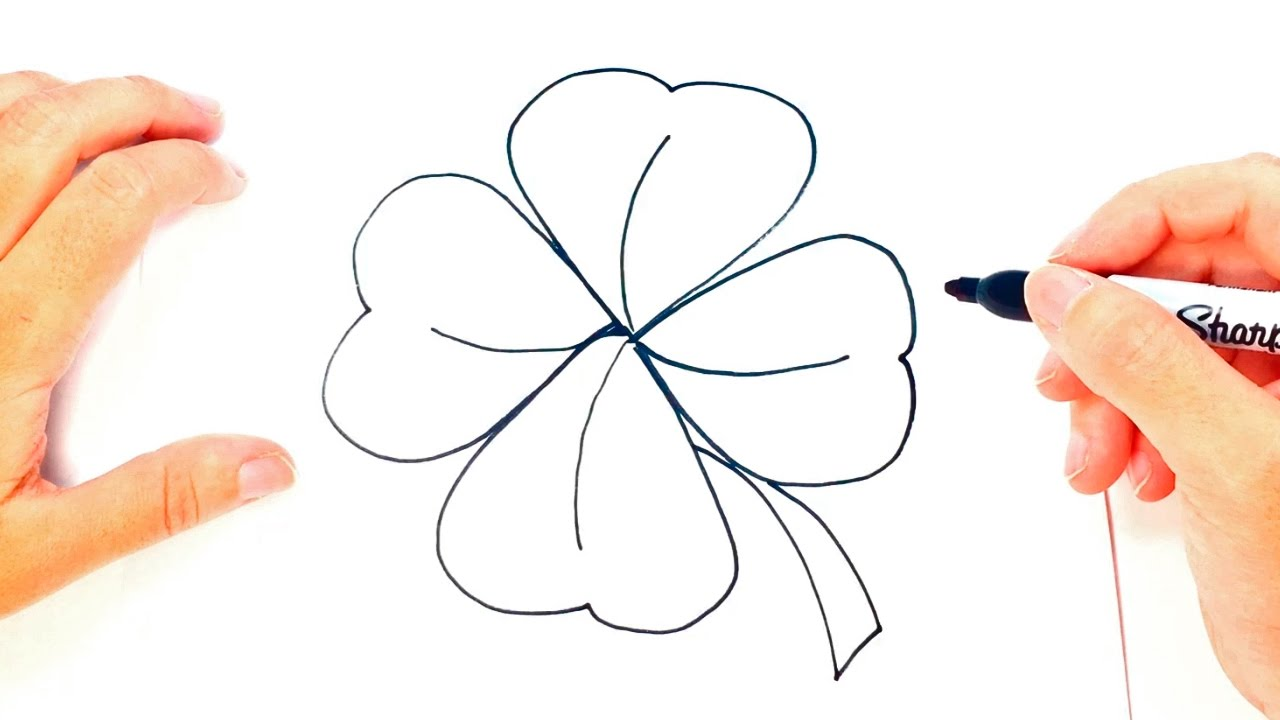 how to draw a clover clover easy draw tutorial