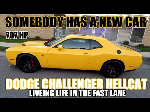 SOMEONE GOT A NEW CAR  DODGE CHALLENGER HELLCAT