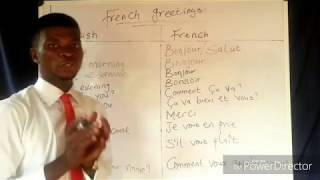 Learn French - French greetings 01