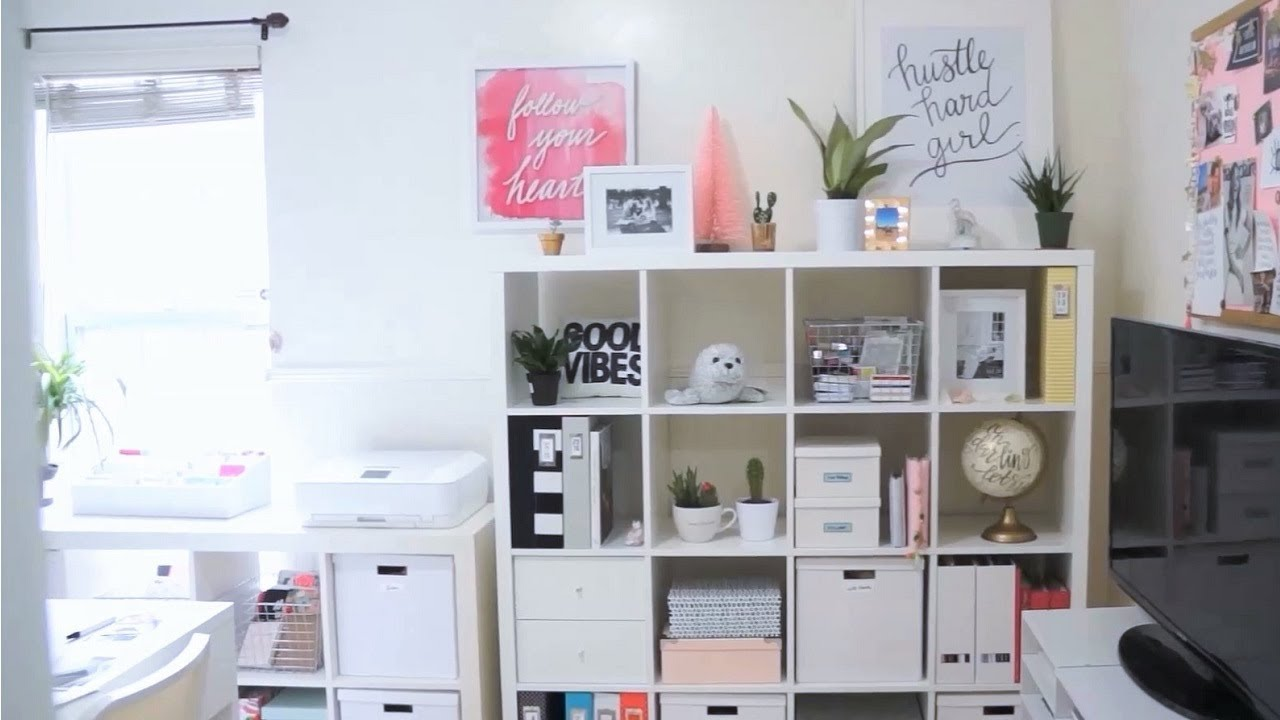 Craft Room Makeover Ikea Expedit Kallax Shelf Restyling And Organization