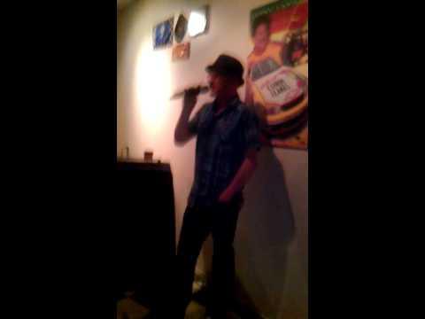 "Mike sings ""Barbie Girl"" at Lauzon Landing karaoke"