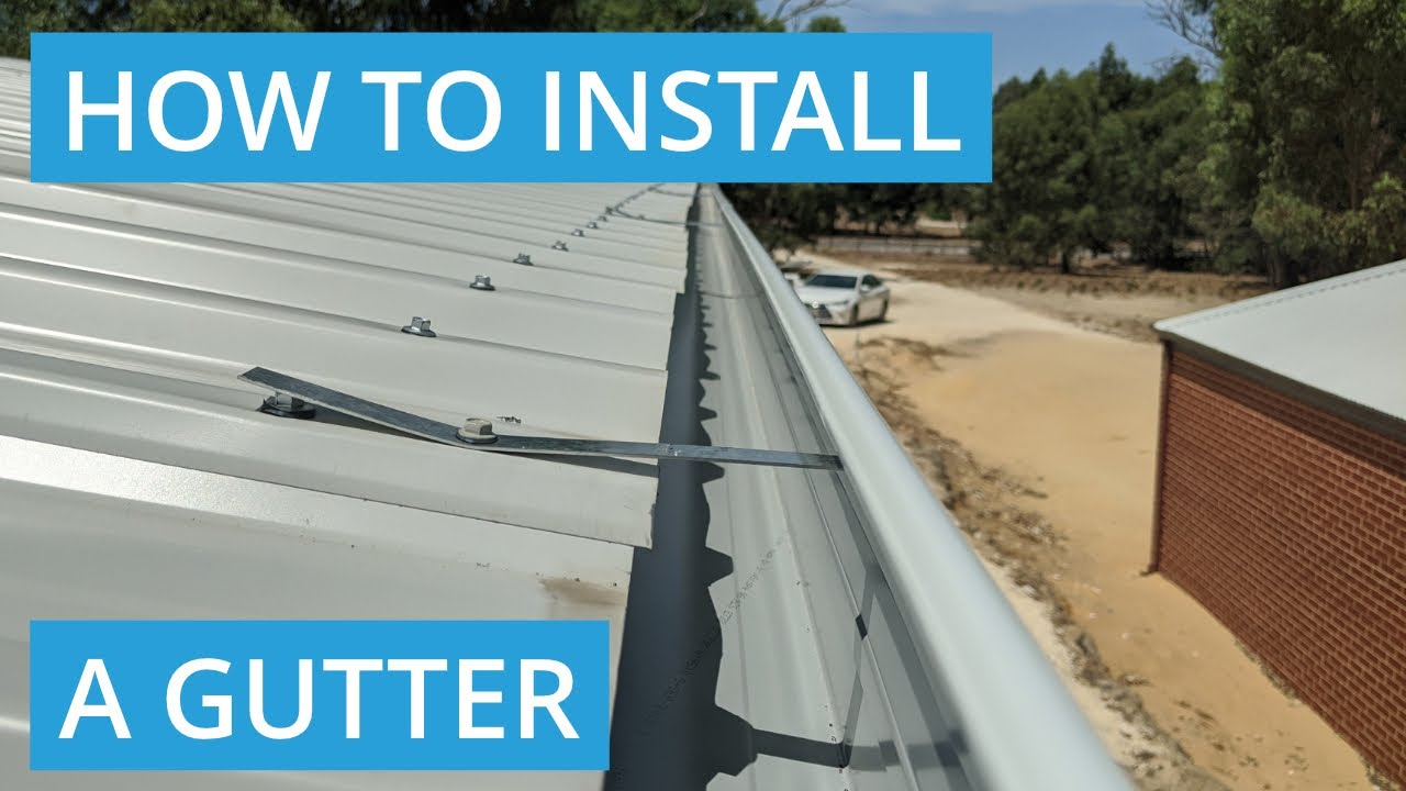 How To Install Gutters On A Metal Roof Youtube