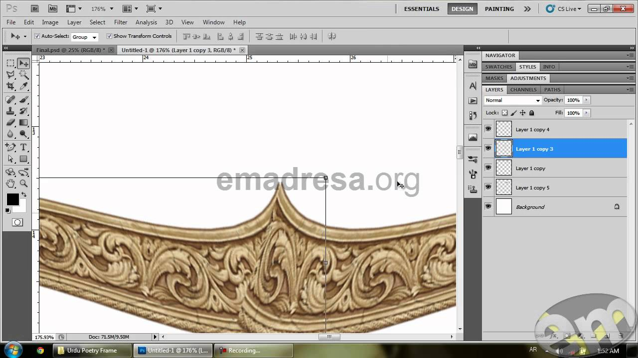 Designing Urdu Poetry Frame Photoshop Urdu Poetry by Emadresa - YouTube