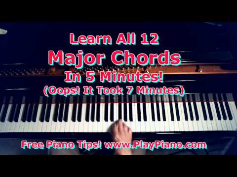 How To Learn All the Major Piano Chords in 7 Minutes Or Less!