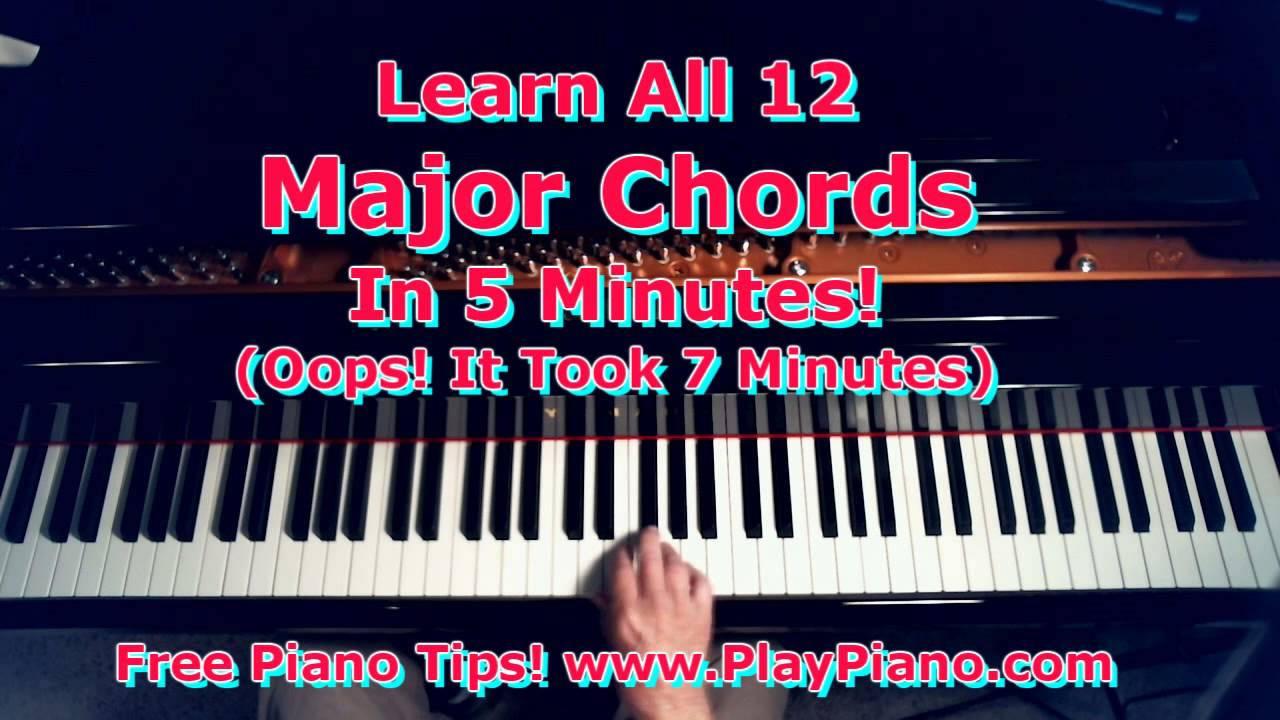 How to learn all the major piano chords in 7 minutes or less how to learn all the major piano chords in 7 minutes or less youtube hexwebz Image collections