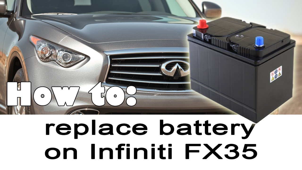Replacing Battery On Infiniti Fx35 Fx37 Qx70