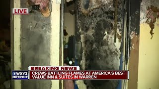 Minor injuries reported after fire at metro Detroit motel