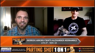 Derrick Adkins training with UFC's Matt Brown ahead of LFA 27 fight Friday