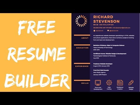 Free Online Resume Builder On Canva For Software Developers