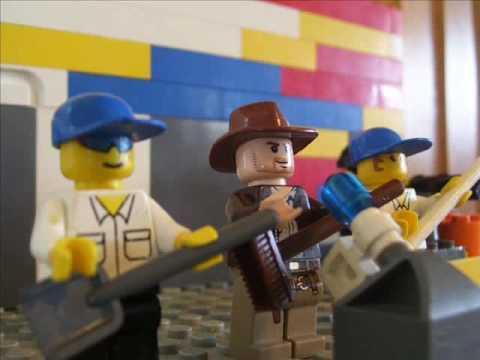 Lego Blue Brick Band Playing Good News